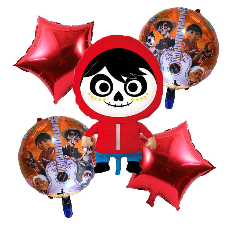 5 Pcs lot Movie Family Happy Birthday COCO Balloons Toys Children Gifts toy Children 39 s Day Decoration Party balloon Supplies in Ballons amp Accessories from Home amp Garden