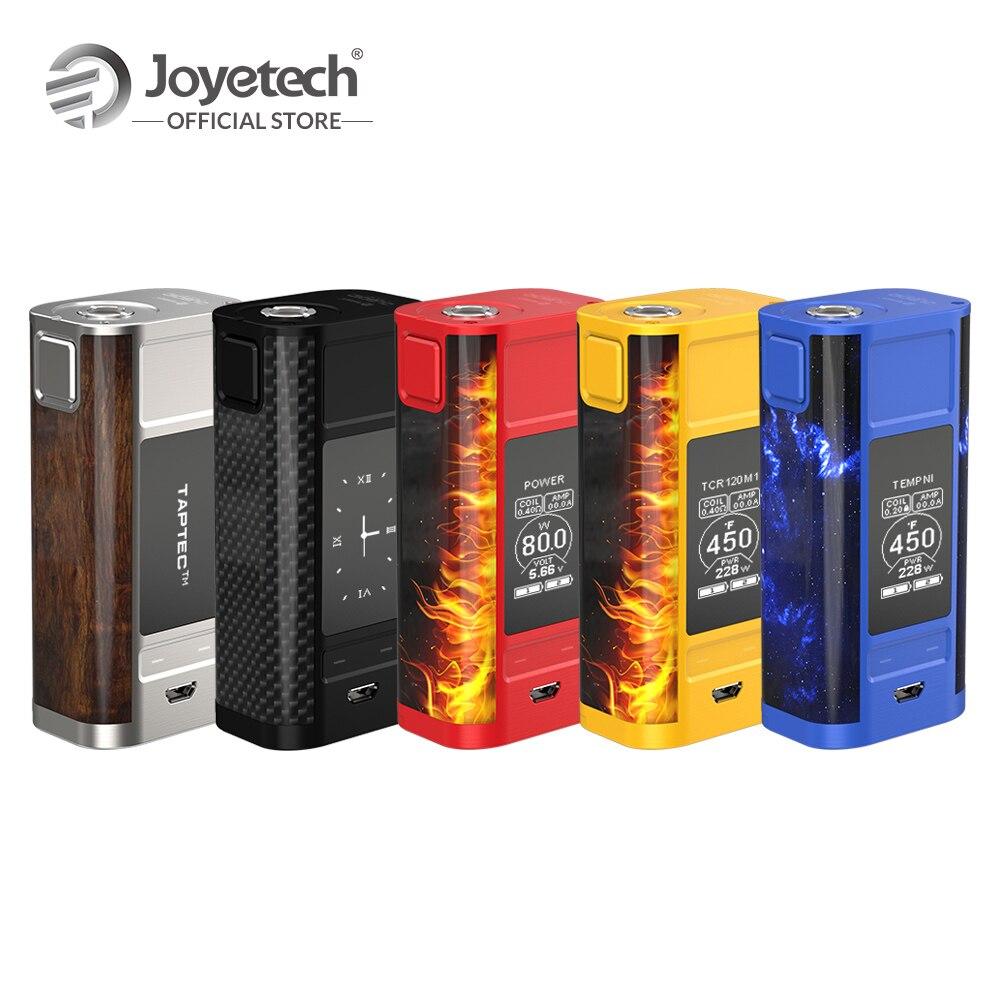 [RU/ES/EUA] Original Joyetech Cubóide TOQUE Mod Potência/Relógio/Temp/TCR/ saída de Carga USB Box Mod 228W Cigarro Eletrônico Tela