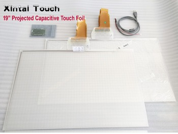"""19"""" Interactive 6 points touch screen foil Film through glass,Multi Touch Foil Glass, delivery cost"""
