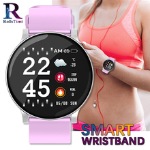 цены New Smart Watch Women Color Display Men Sports Wristband Heart Rate Monitor Smartwatch Waterproof Smart Watch Men IOS Android