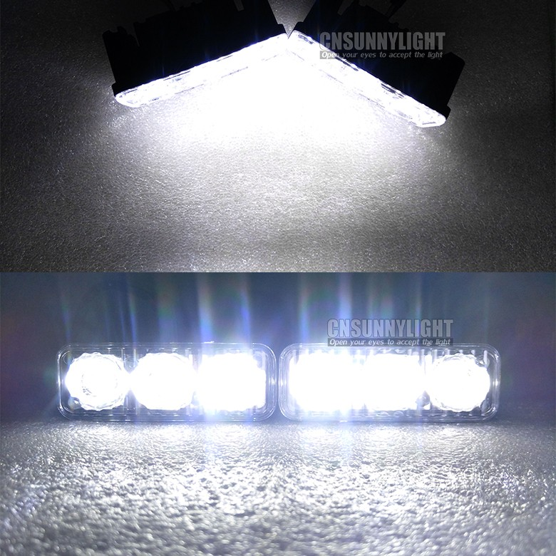 CNSUNNYLIGHT Waterproof Car High Power Aluminum LED Daytime Running Lights with Lens DC12v Xenon White 1set DRL (12)