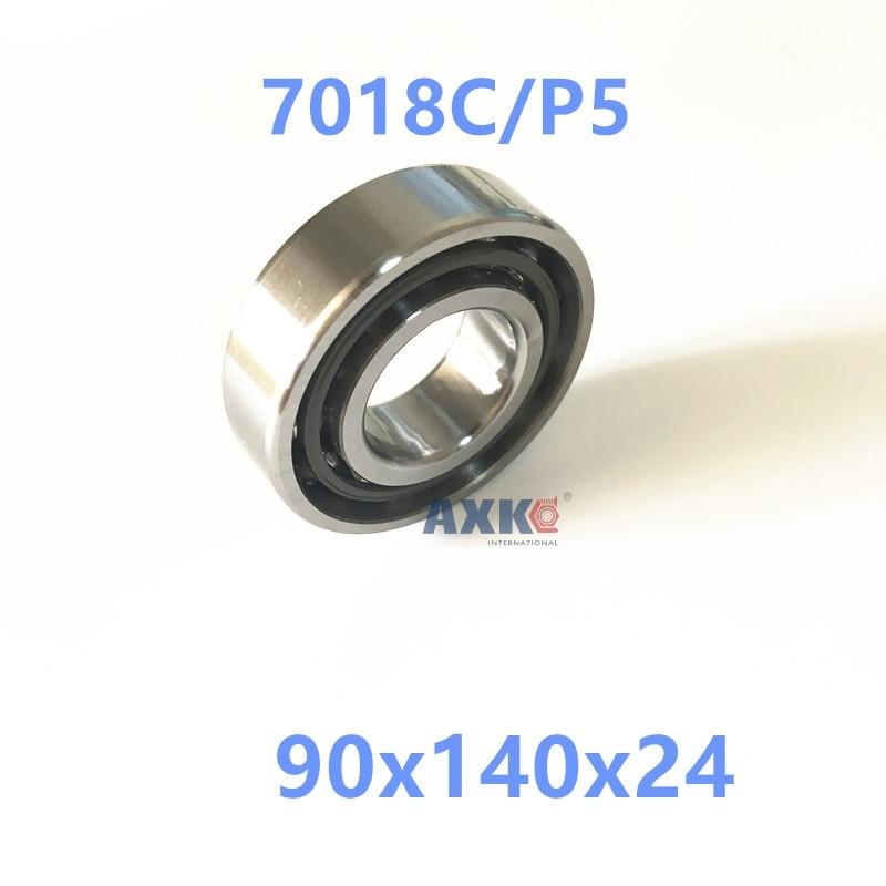 1pcs AXK 7018 7018C 7018C/P5 90x140x24 Angular Contact Bearings Spindle Bearings CNC ABEC-5 axk 1pcs 8mm spindle angular contact ball bearings 708c p5 super precision bearing abec 5 708 708c 708ac 8x22x7