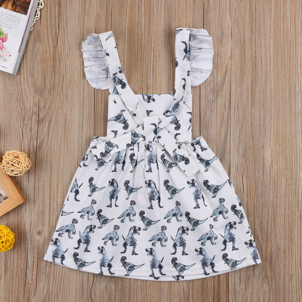 ad98078fce8c 2018 Newborn Baby Girls Dinosaur Sleeveless Dress Clothes Babies Girl  Backless Outfits Sundress Summer Clothing-in Dresses from Mother   Kids on  ...