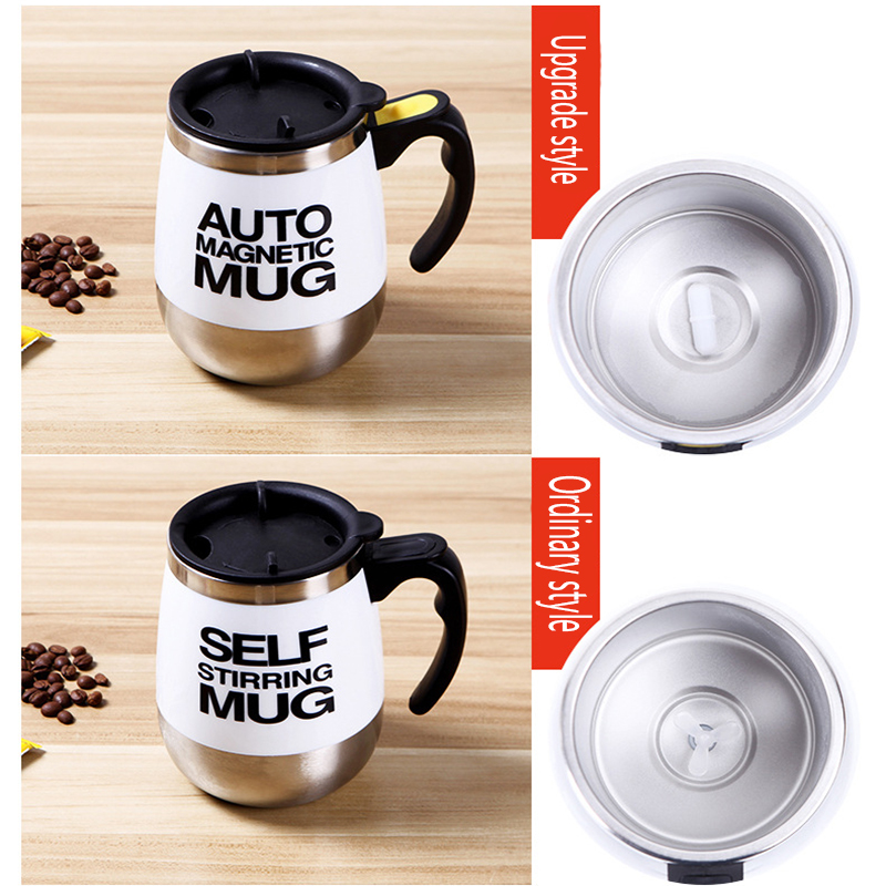 Creative Mugs Automatic Electric Lazy Self Stirring Mug Cup Coffee Milk Mixing Mug Smart Stainless Steel Juice Mix Cup Drinkware in Mugs from Home Garden