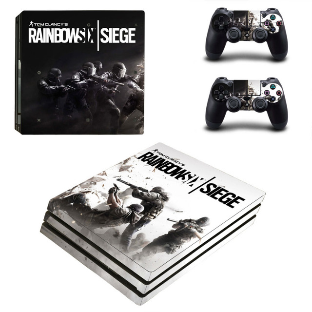US $9 49 5% OFF|Tom Clancy's Rainbow Six Siege PS4 Pro Skin Sticker Decal  For Sony PS4 PlayStation 4 Pro Console and 2 Controllers Stickers-in