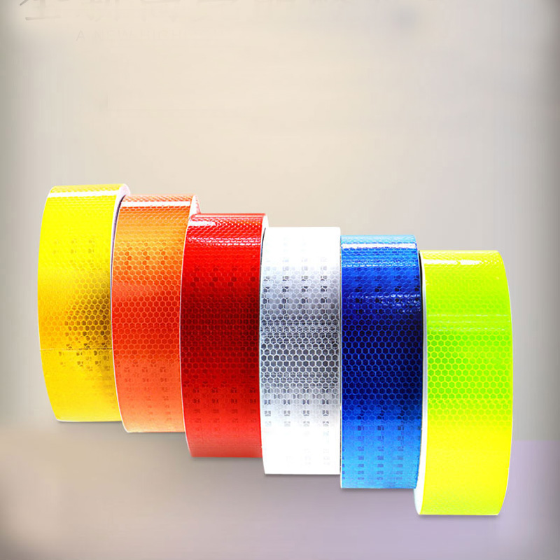 Capable Reflective Material Tape Sticker Adhesive Tape For Bike Safety Warning Tape Reflective Film Car Stickers Reflective Roadway Safety
