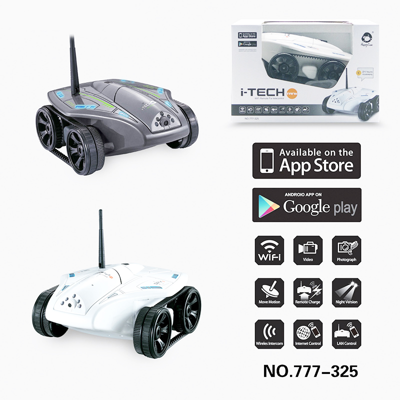 Newest Hot  Real Time WIFI FPV Remote Control Model Tank Car Toy with 0.3MP to 1.0 MP HD Camera Kids Toys birthday Gifts  wireless charger wifi remote control car with fpv camera infrared night vision camera video toy car tanks real time video call