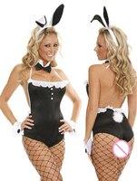 Girl Next Door Bunny Costume 8555 Erotic Leopard Jumpsuit Uniform Costume Set Halloween Animal Bodysuit For