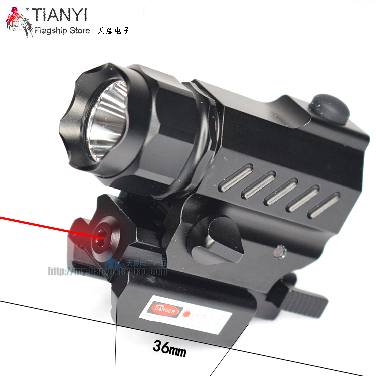 Quick Release Tactical Flashlight LED Sight Tactical Powerful Laser Sight Set for Rifle Pistol Shot Flashlight with 5mW Laser