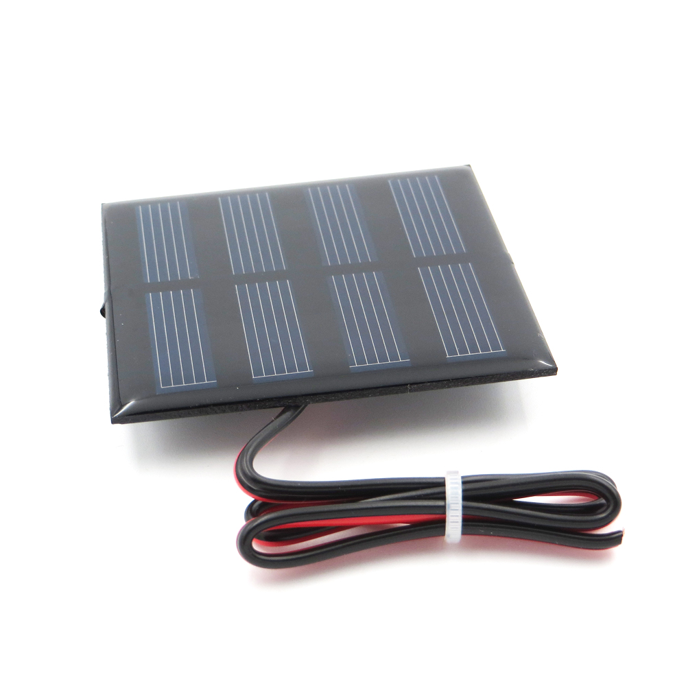 1pc x 2V 150mA with 30cm extend wire Solar Panel Polycrystalline Silicon DIY Battery Charger Small Mini Solar Cell cable toy