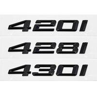 3d preto cauda carta emblema emblema adesivo acessórios estilo para bmw série 4 f32 f33 f36 420i 428i 430i decoração do carro decalques Adesivos para carro     -