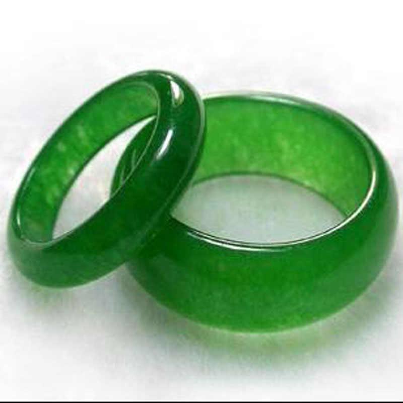 Vogueสวยเครื่องประดับสีเขียวศิลป์หินแหวนจัดส่งฟรี