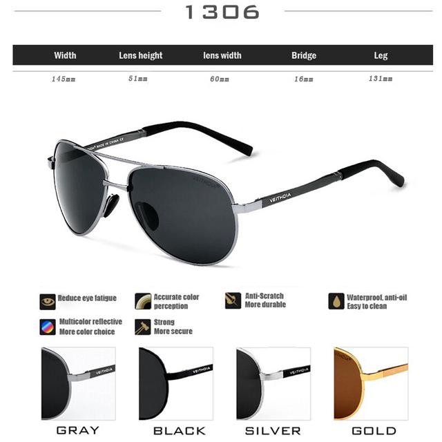 New Men's Sunglasses Brand Designer Pilot Polarized Male Sun Glasses Eyeglasses For Men
