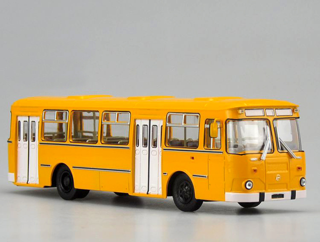 1:43 scale model diecast Original Russian 677M bus model Russian Alloy bus model Collection models vehicle