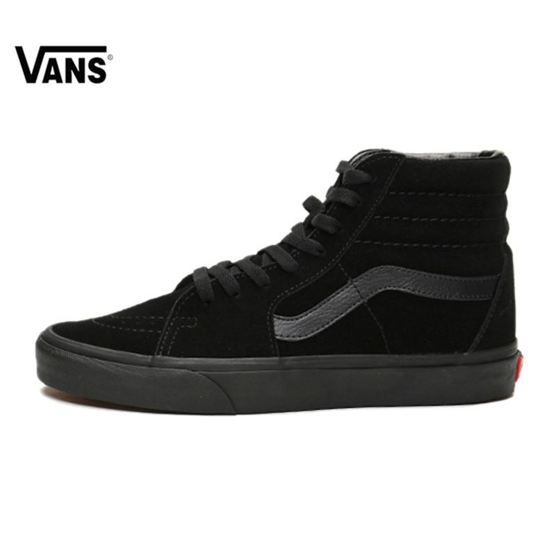 2018newOriginal Vans Sk8-Hi-Boys Classic Unisex MEN'S & WOMEN'S Skateboarding Shoes Sports canvas Shoes Sneakers vans old skool vans кеды vans old skool navy us 4