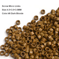 4.5*3.0*3.0MM 1000Pcs/Box Aluminium Tube Micro Rings/Links Hair Beads Without Screw for Dreadlocks Hair Extensions