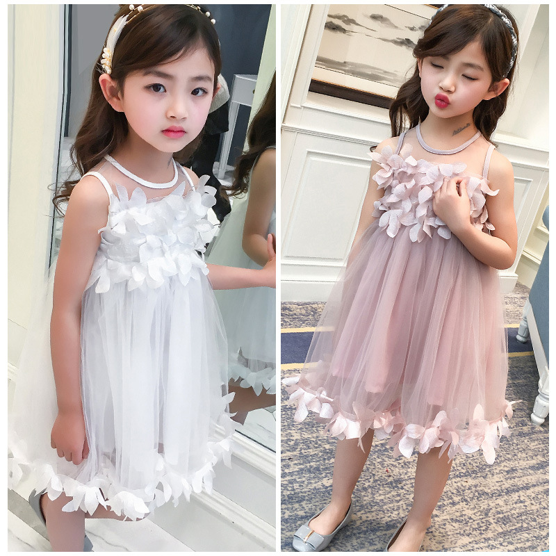 2018 Fashion   Flower     Girls     Dress   Summer Kids Clothes Sleeveless Cute Princess Party Children   Dresses   For   Girls   Costumes 14 Years