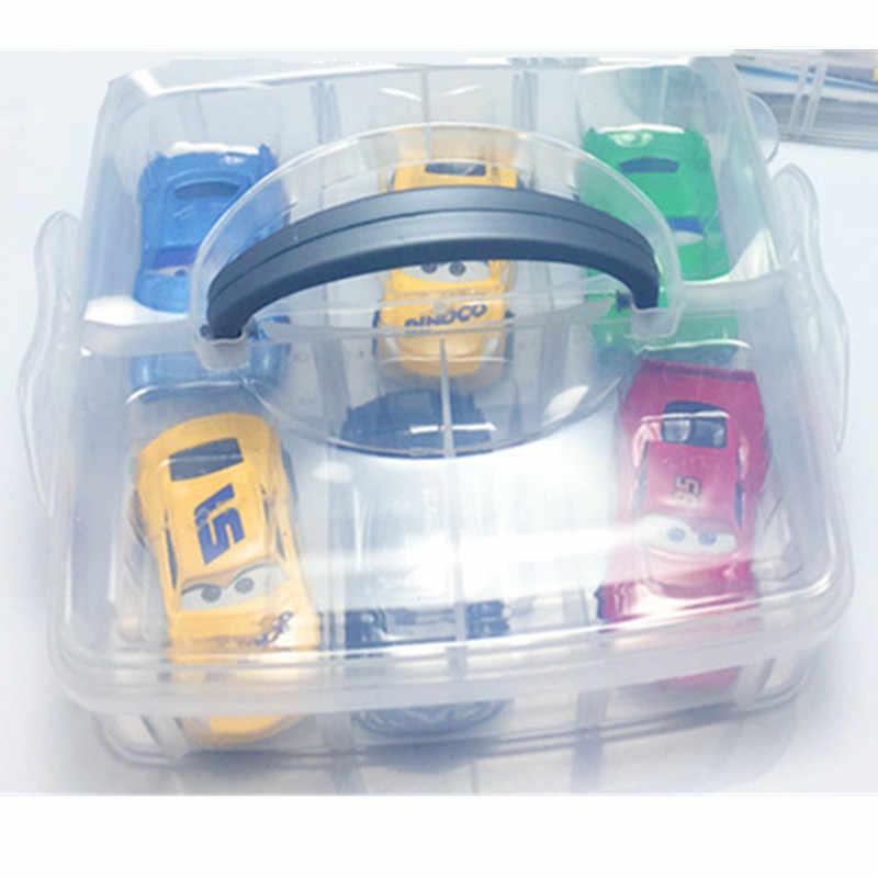 Diecasts 玩具車車ライトニングマックィーンスーツ 6 小型車コンテナ車セット合金モデル子供のおもちゃギフト