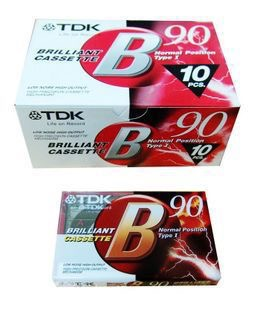 TDKB90 90 Minutes Normal Position Type 1 Recording Blank Cassette Tapes.