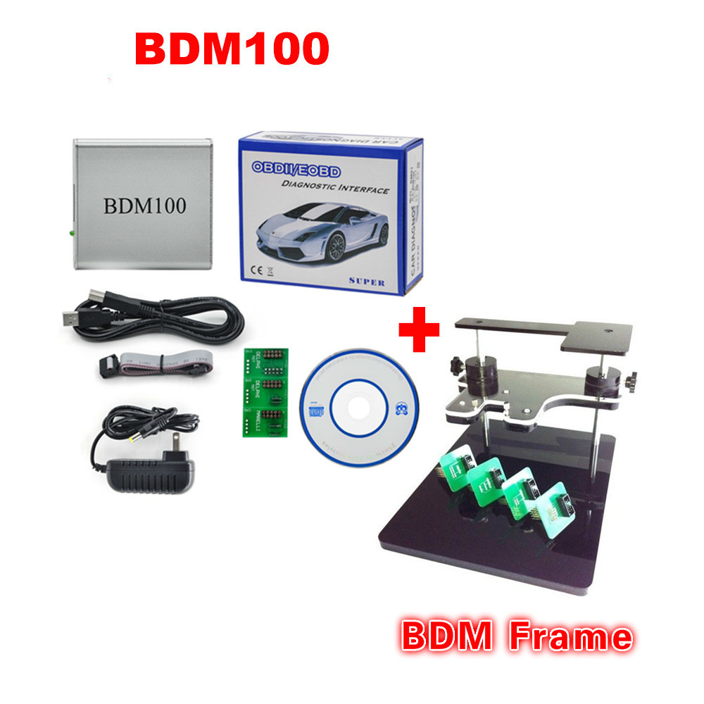 New BDM 100 ECU BDM 1255 Programmer BDM100 CDM1255 + BDM FRAME with Adapters Set fit for BDM100 programmer/ CMD, bdm frame