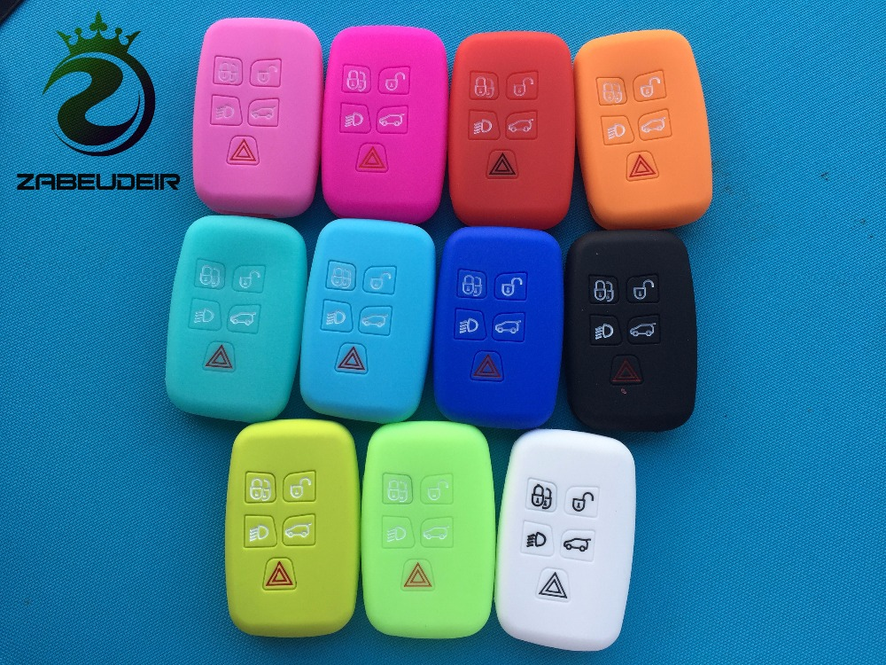Light Blue Silicone Key Shell Remote Cover For Land Range Rover Sport Evoque