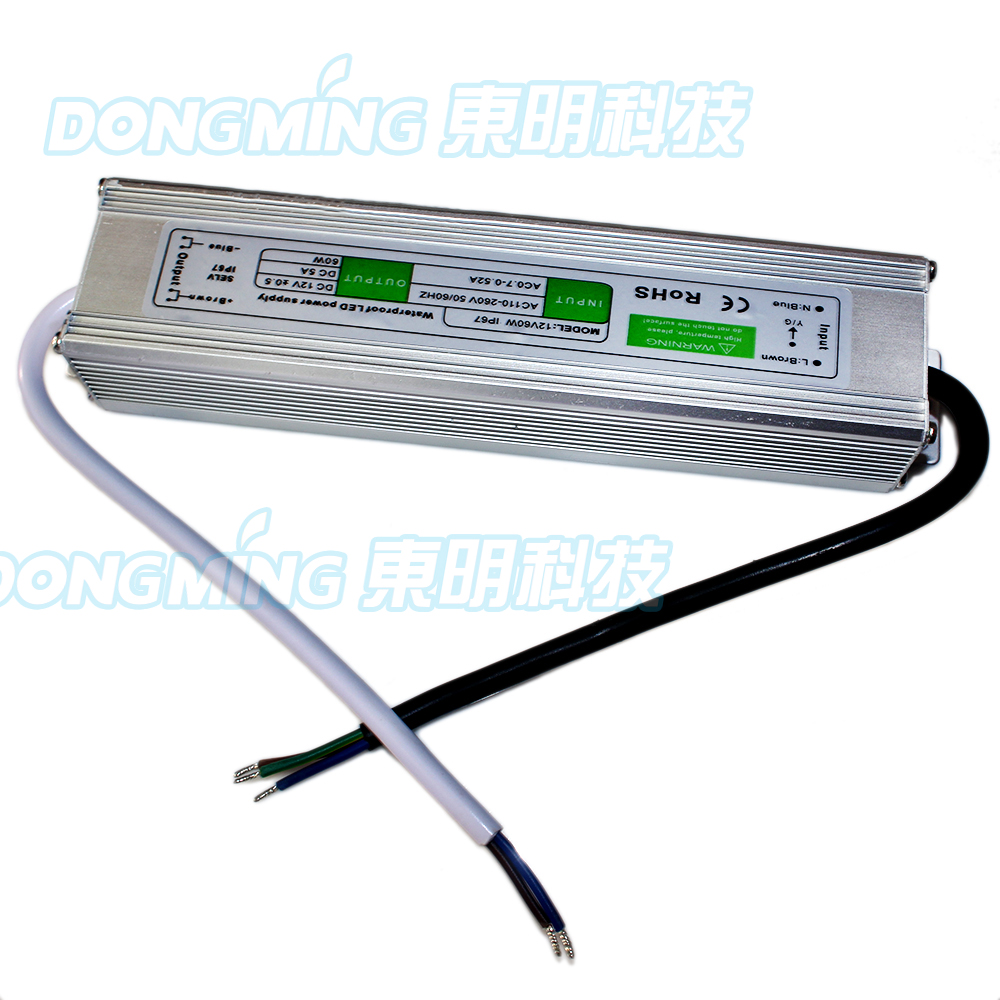 5A led Power Supply 60W Switching AC110 240V To DC 12V Power Adapter LED Light driver Transformer with high quality
