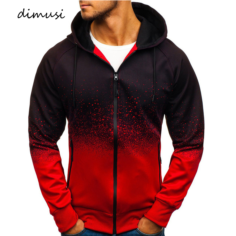 DIMUSI Fashion Mens Hoodies Men Slim Print Sweatshirt Hooded Mens Jackets Hip Hop Hoodies Sportswear Tracksuit Clothing 3XL