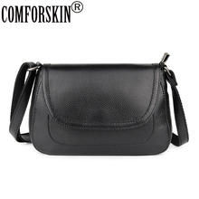 COMFORSKIN Brand Shoulder Bag Cowhide Women's Messenger Bags High Quality Genuine Leather Small Cross-body Bags For Female 2019 стоимость