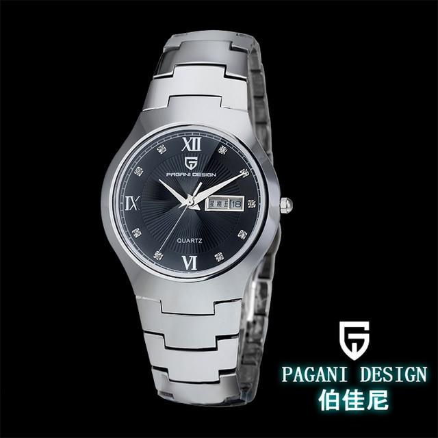 Pagani Design tungsten steel couple watches Men Women double calendar waterproof luxury watch (RS-3203)