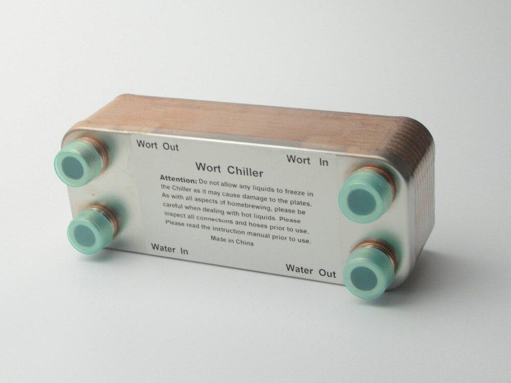 20 Plates Wort Chiller Plate heat exchanger Stainless Steel 304 Brewing Chiller 1 2 NPT