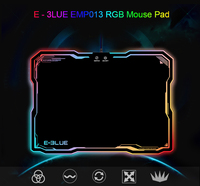 E 3LUE EMP013 Gaming Mouse Pad Gamer Rubber Pad Mousepad RGB Light Lighting Mice Mousepad For Computer PC Notebook Loptop