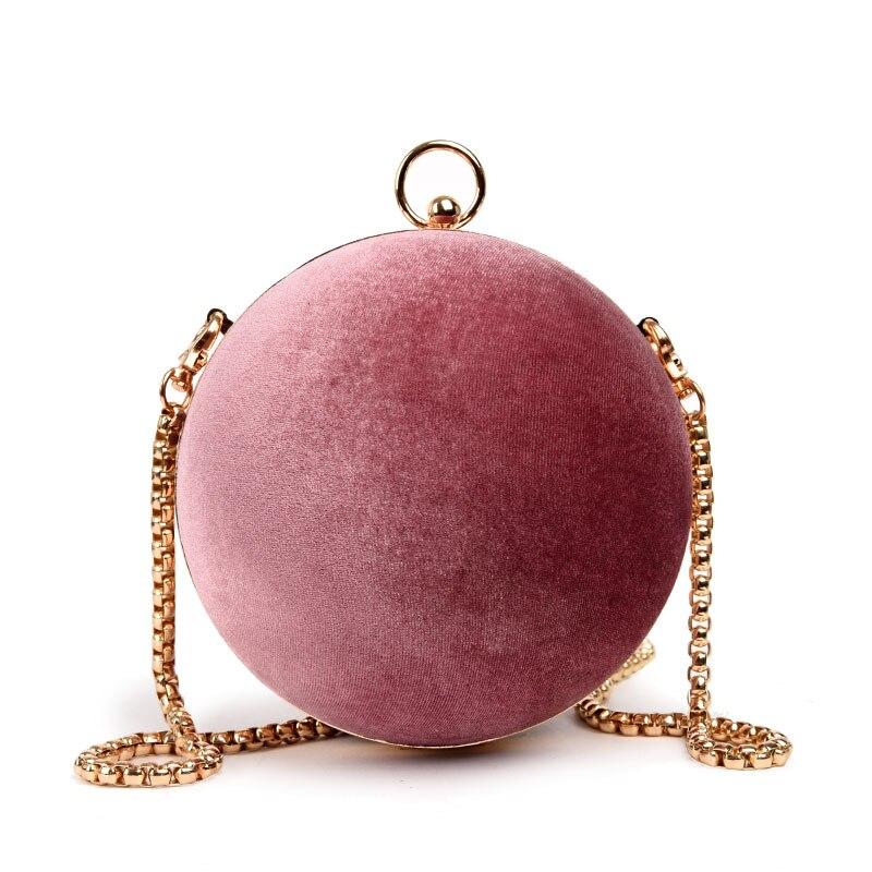 ADIYATE Pink Chains Shoulder Bags Cheap Women O Bags Round Clutch Purse Handbag Pink Bolsa Feminina Sac A Main Sac De Plage stylish bicycle lock and round pendant double sweater chains for women