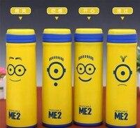 420 ML Dos Desenhos Animados amarelo pequeno beliche eficiente isolamento de aço inoxidável copo caneca