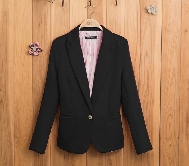 Aliexpress.com : Buy Ladies Yellow Blazer Feminino Formal Jacket Womenu0027s  Black Blaser Rosa Female Blue Women Suit Office Ladies 2017 6 Colors From  Reliable ...