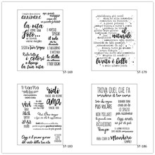 Italian Language Designs Transparent Clear Stamp for Scrapbooking Rubber Seal Paper Craft Stamps Card Making 684