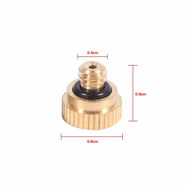 20pcs Brass Misting Nozzles Cooling System 0.4 mm 10/24 design Water Sprinklers Irrigation Fitting for watering Garden
