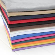 50×145 см Красочные Искусственной Замши Ткани Оптом Черный Поддельные Замши Texitle Для Одежды Одежды Мягкий Материал Сумки Обувь Tissus