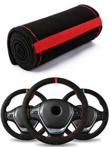 Car-Accessories Steering-Wheel-Cover Suede-Material 38cm Universal Sport-Style Braid