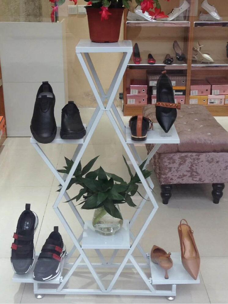 Tieyi витрина посылка стойка, ретро магазин одежды обуви крышка потока стол дизайн и расположение шкаф - 4