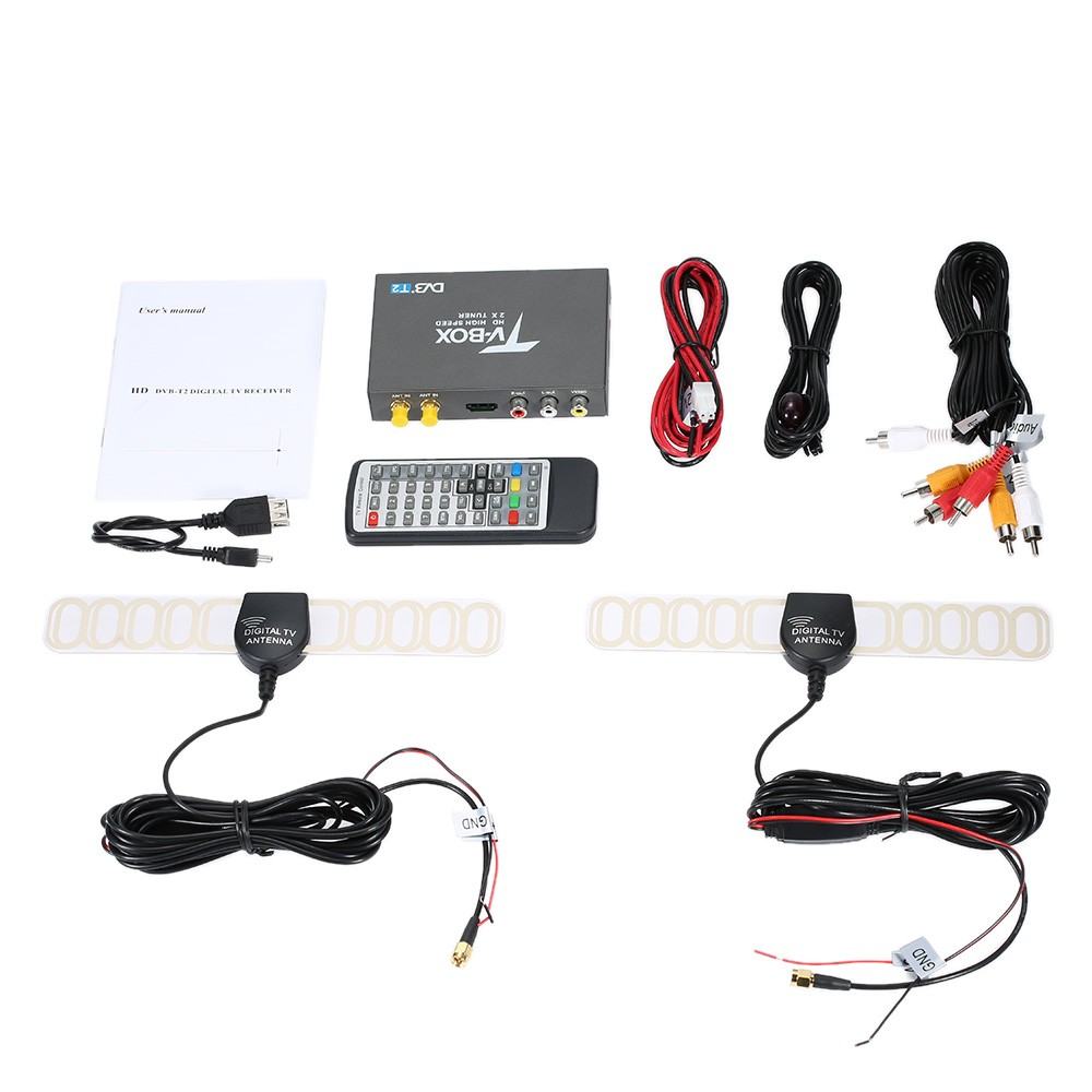 digital tv receiver for car with DVB T2 Tuner Box Support MPEG 1, MPEG 2, MPEG 4, H.264 decoder for RUSSIAN,AUSTRALIA ETC