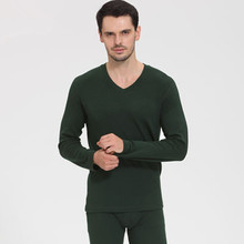 2017 Autumn and Winter Wool Cotton Thermal underwear Tops and pants Pajamas set For Men and