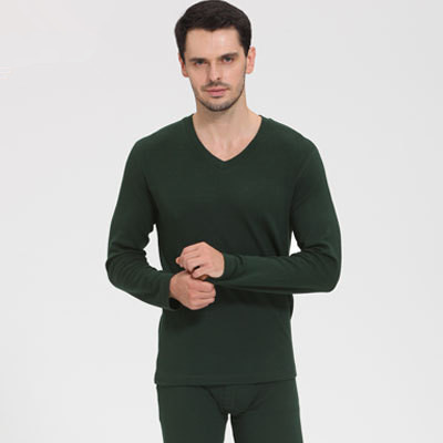 High Quality Autumn and Winter Wool Cotton Thermal underwear Tops and pants   Pajamas     set   Men and women warm Sleepwear clothings