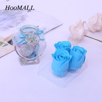 Hoomall Wens Flacon Valentijnsdag Zeep Rose Verjaardagscadeau Kunstmatige Bloemen Ster Glazen Fles Rose Bloemen Valentijnsdag Gift