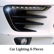 High Quality Carbon Fiber Car Lights Decoration Stickers Car Accessories Suitable For Porsche Macan
