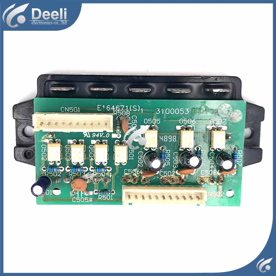 95% new used board air conditioning Power module board PM30CTJ060-3 001A3100053 E164671 3100053 pc board air conditioning accessories board 0010400526 used disassemble