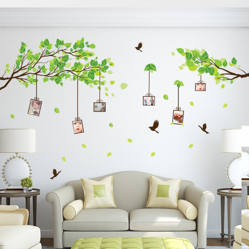 Maruoxuan New 3d Sticker On The Wall Green Photo Frame Memory Tree Wall  Stickers Living Room Bedroom Family Tree Wall Decals  In Wall Stickers From  Home ...