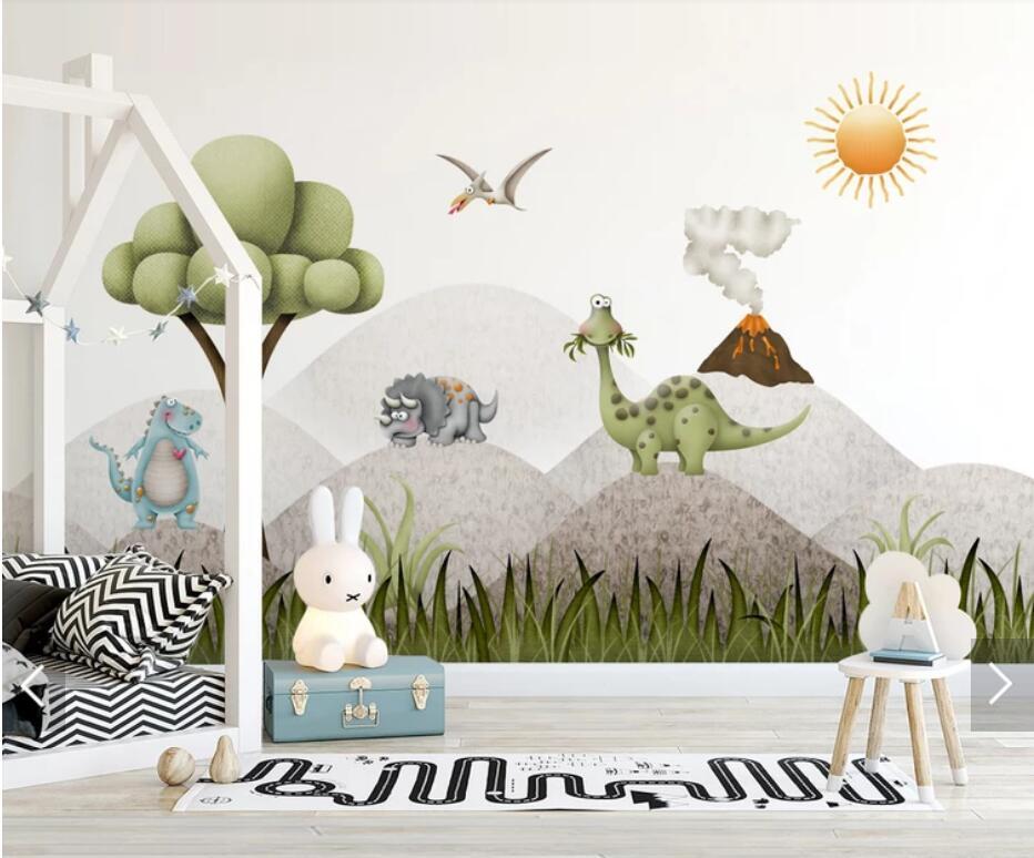 3D Tree Dinosaur Wallpaper Wall Mural for Kids Bedroom Children Room TV  Background Wall Paper Rolls Customize