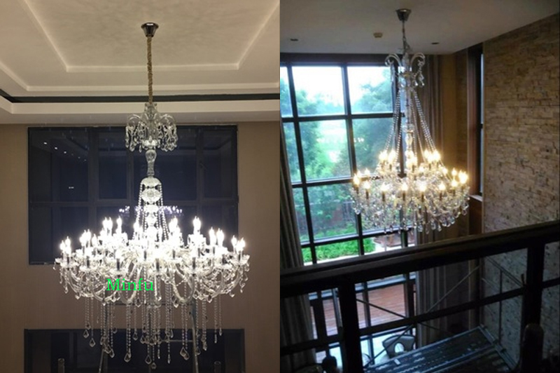 Plafoniere Grandi Led A Soffitto Moderno : Soffitto del led lampadario di cristallo grandi lampadari moderni