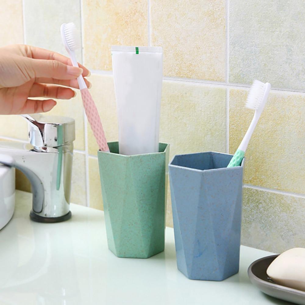 Eco-friendly Wheat Straw Gargle Mug Tooth Brush Home Travel 26