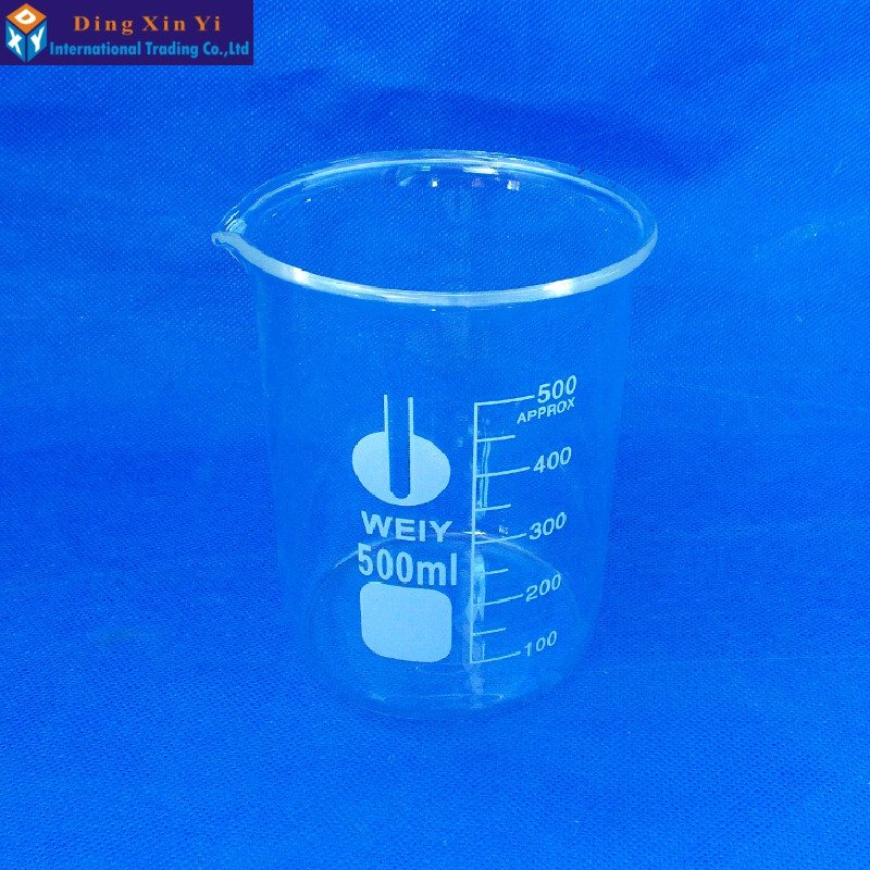 500ml 1PC Glass beaker laboratory glass lab measuring beaker литье enkei rs05rr 18 cc gti a4l a5